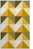 rug #1153067    yellow abstract rug