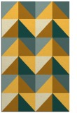 rug #1153079 |  yellow retro rug