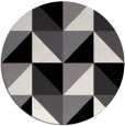 rug #1153123 | round black abstract rug