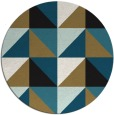 rug #1153149 | round retro rug