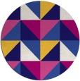 rug #1153219   round blue-violet retro rug