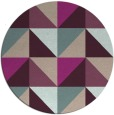 rug #1153283 | round pink retro rug