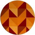 rug #1153327 | round orange rug