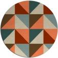 rug #1153335 | round orange geometry rug