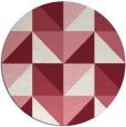 rug #1153347   round pink rug
