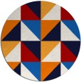 rug #1153377 | round retro rug