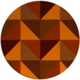 rug #1153391 | round red-orange abstract rug