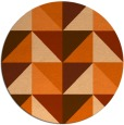 rug #1153395 | round red-orange abstract rug