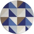 rug #1153415 | round white abstract rug