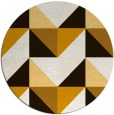 rug #1153419 | round brown abstract rug