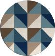 rug #1153427   round white geometry rug