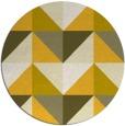 rug #1153435 | round yellow rug