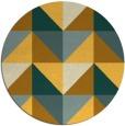 rug #1153447 | round yellow retro rug