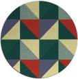 rug #1153451 | round yellow retro rug