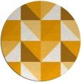 rug #1153471 | round light-orange abstract rug
