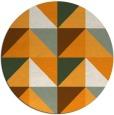 rug #1153479 | round light-orange abstract rug