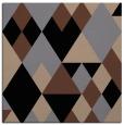 rug #1153871 | square black retro rug