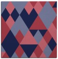 rug #1153947 | square blue-violet retro rug