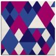 rug #1153955 | square blue-violet retro rug