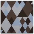 rug #1153963 | square blue-violet retro rug