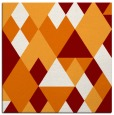 rug #1154067 | square orange geometry rug
