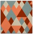 rug #1154071 | square orange retro rug