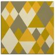 rug #1154171 | square yellow retro rug