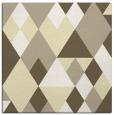 rug #1154175 | square yellow retro rug