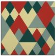 rug #1154187 | square yellow retro rug