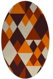 rug #1154223 | oval orange geometry rug