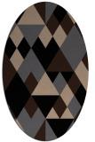 rug #1154235 | oval beige popular rug
