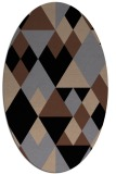 rug #1154239 | oval brown retro rug