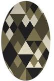 rug #1154247   oval black retro rug
