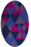 rug #1154259 | oval pink retro rug