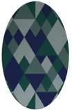 rug #1154263 | oval blue-green rug
