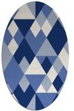 rug #1154271   oval blue popular rug