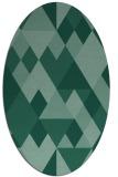 rug #1154279 | oval blue-green rug