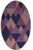 rug #1154319 | oval blue-violet popular rug