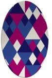 rug #1154323 | oval blue-violet popular rug