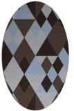 rug #1154331 | oval blue-violet retro rug