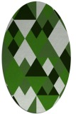 rug #1154363 | oval light-green rug