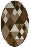 rug #1154379 | oval beige geometry rug