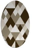 rug #1154383 | oval mid-brown retro rug