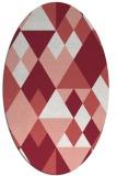 rug #1154459 | oval white retro rug