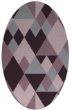 rug #1154475 | oval purple rug
