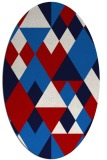 rug #1154479 | oval red retro rug