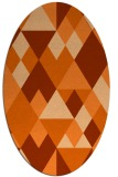 rug #1154499 | oval red-orange retro rug