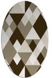 rug #1154538 | oval retro rug