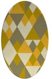 rug #1154539 | oval yellow retro rug
