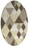 rug #1154543 | oval yellow rug